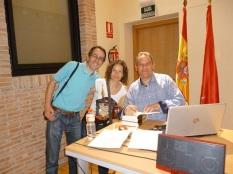 Con mi prima María José y su marido Javier.