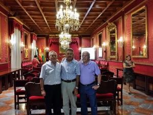 Andrés, Antonio y Paco.