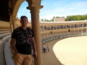 De visita en la legendaria Plaza de Ronda.