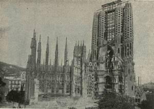 La Sagrada Familia en 1915.
