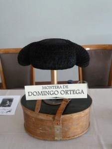 Única montera que vistió Domingo Ortega.