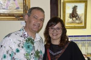 Con Sonia Sevilla mi princesa.
