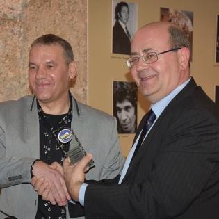 Con Juan Aguilera.