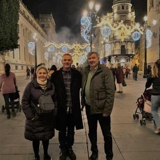 Con Manuel Jaimez y su mujer Mari Carmen.